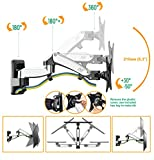 """Universal Full Motion Articulating Gas Spring TV Wall Mount Bracket for 17"""" - 27 inch LED LCD Flat Panel Screens up to 15.4lbs F150-SLV"""