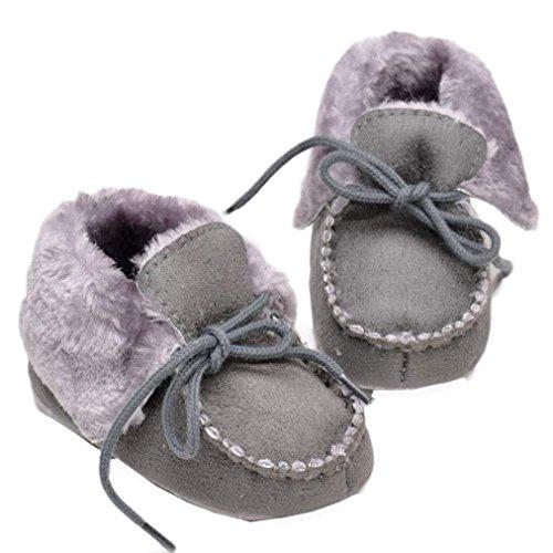 Baby Bzline® Mädchen Krippe Weichen Stiefel Grau Baumwolle Sohle Warme xO1OvZw