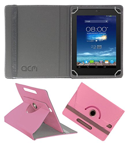 Acm Rotating 360° Leather Flip Case for Digiflip Pro Xt801 Cover Stand Light Pink  available at amazon for Rs.159