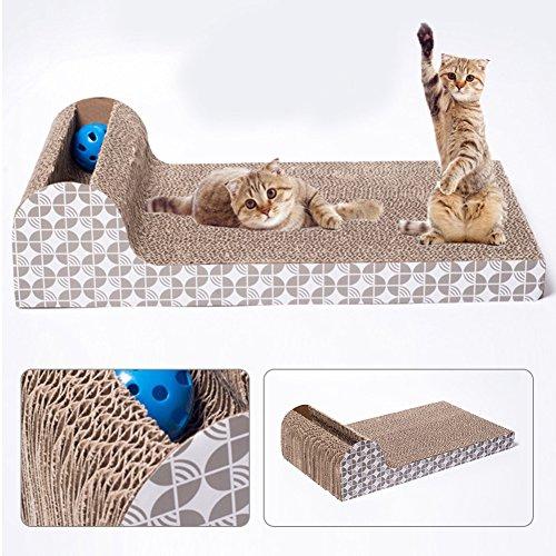 HOMYY tiragraffi lounge giocattolo grande piastra orizzontale divano Superior cartone ondulato costruzione che graffia Pads