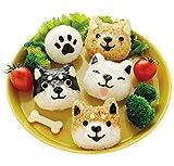 Reisformen-Set für kleine Reisbbälle mit Hund, süßes Cartoon-Muster, DIY Sushi Bento Nori Küche Reisform