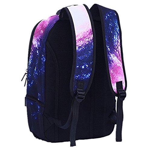 Studenten Mädchen Jungen Galaxy Katze Rucksack Schule Laptop Tasche Galaxie Katze