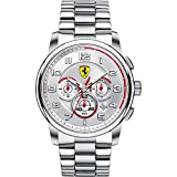 Ferrari Reloj Cronógrafo para Hombre de Cuarzo con Correa en Acero Inoxidable 830055