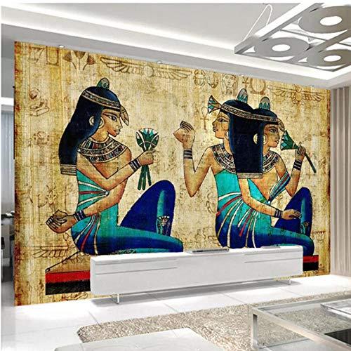 3d wallpaper europäischen stil handgemalte alte ägyptische figuren wandmalerei wohnzimmer tv wohnkultur wandbilder tapete-450X300CM -