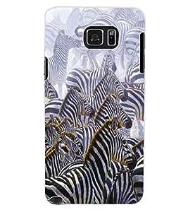 ColourCraft Zebras Design Back Case Cover for SAMSUNG GALAXY NOTE 5