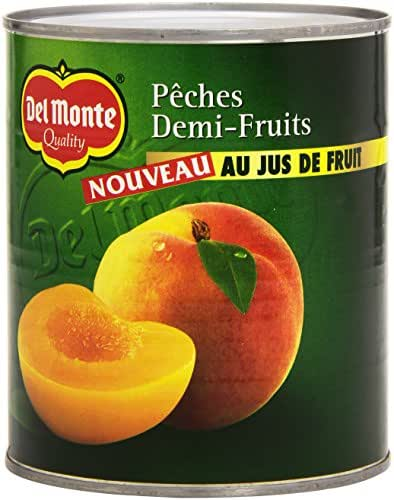 Del Monte Pêches Demi-Fruits au Jus 825 g