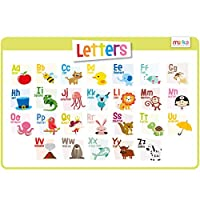 merka - Educational Kids Placemats - Non Slip Silicone Back, Washable Reusable - Size 45x30cms