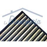tex family Tappeto Cucina in Legno Bamboo Grigio Nero SFUMATO Tutte Le Misure - Cm. 50/55x180
