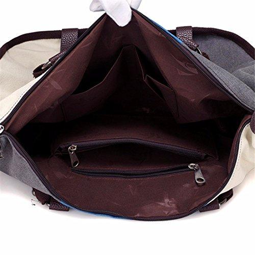 Hit cuciture in colori borsa di tela ladies borsa a tracolla tempo libero a grande capacità borsa Messenger wild borsetta, rosa Rosa