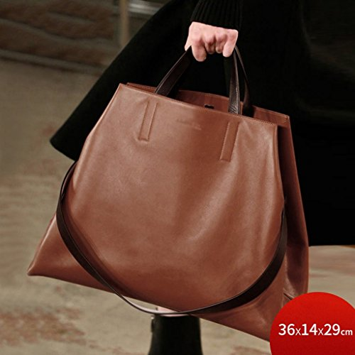 ZCJB Lady Bags Fashion Hohe Kapazität Schulter Messenger Bag Handtasche ( Farbe : Rotwein ) Braun