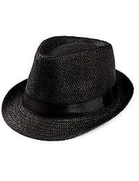 776eae2eb72 Summer Hats-Unisex Men Women Packable Fedora Trilby Straw Sun Beach Hats