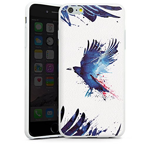 Apple iPhone X Silikon Hülle Case Schutzhülle Vogel Kunst Krähe Silikon Case weiß