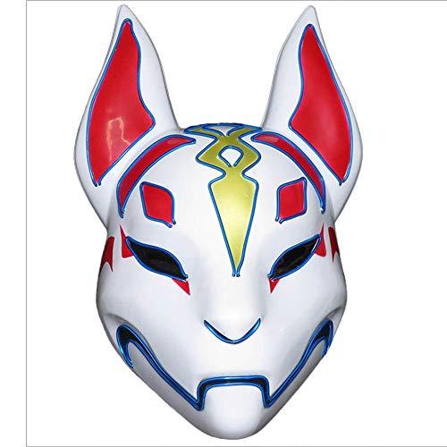 Up Kostüm Light Halloween - Led Purge Fox Mask Kostüm Vollgesichts Glowing Rave Halloween Masken Für Erwachsene Light Up Cosplay Party,I