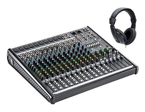 Preisvergleich Produktbild Mackie ProFX16v2 Set (12-Kanal Mischpult,  inkl. Classic Cantabile Kopfhörer)