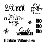 Clear Stamp-Set Stempel-Gummi Karten-Kunst - Typomix Weihnachten
