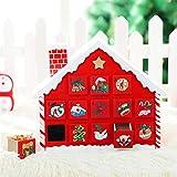 Kangqi Weihnachtskreative Geschenke Weihnachtssüßigkeits-Chalet-Weihnachtsschnee-Haus-Kalender-Verzierungen