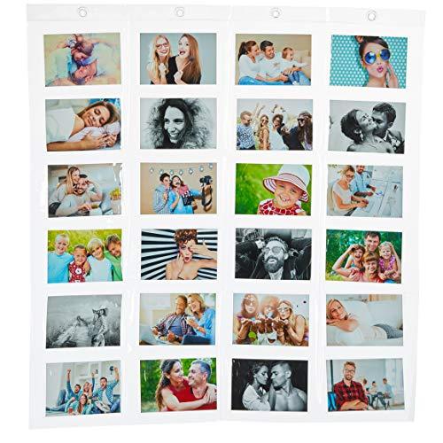 Bada Bing Fotohalter Mit 24 Taschen in Transparent Ca. 78 x 83 cm Für Ihre Fotos 10 x 15 cm Karten Notizen In Querformat Fotovorhang Kartenhalter 05