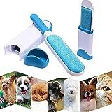 Cepillo Limpiador Quita Pelos de Perro Gato Mascotas Pelusas para Ropa con el Asistente de Tamaño de Viaje, Reutilizable Mascota Fur Remover con Auto-Limpieza Base