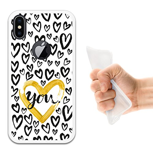 iPhone X Hülle, WoowCase Handyhülle Silikon für [ iPhone X ] Star Satz - I Love You To The Moon And Back Handytasche Handy Cover Case Schutzhülle Flexible TPU - Schwarz Housse Gel iPhone X Transparent D0463