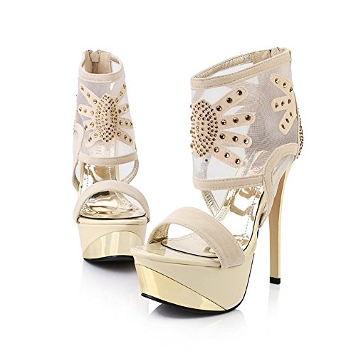 1to9, Sandales Femme Gold