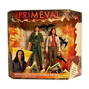 """Primeval - 5"""" Claudia Brown With Helen Cutter & 3 Agnurognathus (Small Lizards)"""