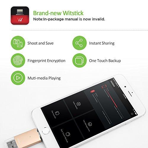 OMARS - Flash Drive USB [MFi certifacato], per iPhone iPad Dispositivi iOS/Mac/PC (32GB, Oro)
