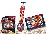 Disney Cars WD17955 Kinder Digital Armbanduhr und Geldbeutel, Lightning McQueen
