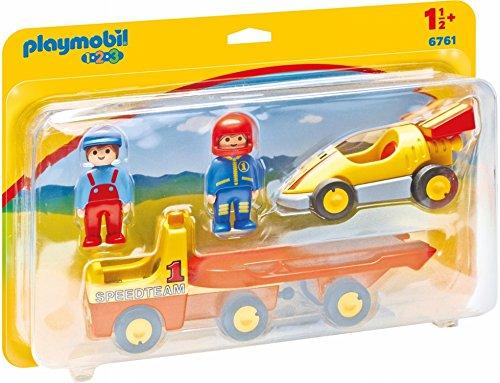 Playmobil Racing Car with Trailer Coche de Carreras con Camión,, 18m+ (6761)