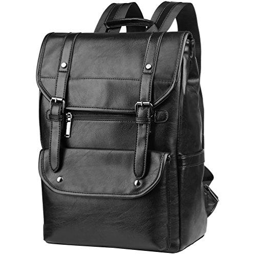 Vbiger Rucksack Vintage Herren Damen Schulrucksack Wasserdicht Daypack Passen 15,6 Zoll Laptop -