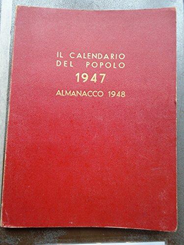 CALENDARIO DEL POPOLO 1947
