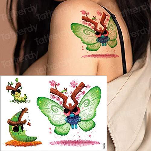 �towierung Kinder Kinder Tattoo Aufkleber Schmetterling Tiere Tattoo Kinder Mädchen Hals Tattoo Party Wasser Farbe Tatto zurück ()
