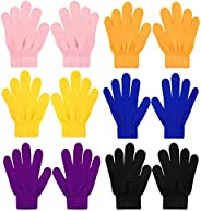QKURT 6 Pezzi Guanti magici Elasticizzati per Bambini, Unisex Ragazzi Ragazze Knit Full Finger Gloves Guanti I