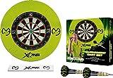 Darts Corner Michael van Gerwen Turnier-Dartscheibe und Rand-Set,6Dartpfeile,Wurflinie-Streifen