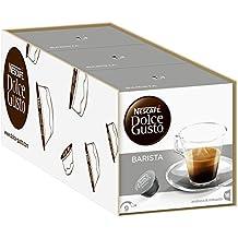 NESCAFÉ Dolce Gusto Cápsulas de Café Ristretto Barista - Pack de 3 x 16 Cápsulas -