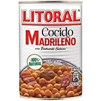 LITORAL Cocido Madrileño - Plato Preparado Sin Gluten - Pack de 6 x 440 g - Total: 2640 g