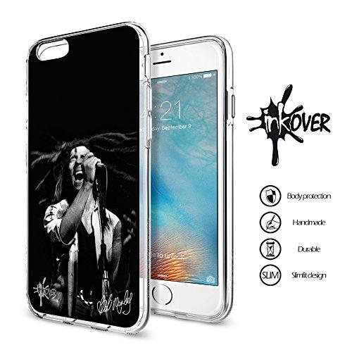 Cover iPhone 5C - INKOVER - Custodia Cover Protettiva Guscio Soft Case Bumper Trasparente Sottile Slim Fit Tpu Gel Morbida INKOVER Bob Marley Chitarra Jah Raggae Rasta Africa Jamaica per APPLE iPhone  BOB 3