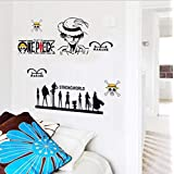 Children Cartoon Wall Decals Removable Decals One Piece Wall Stickers