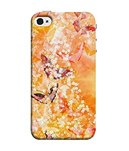 FUSON Designer Back Case Cover for Apple iPhone 4 (Animal Cat Cute Domestic Preety)