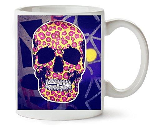 or Collection Skull Bones Jaguar Pattern In Klassische Teetasse Kaffeetasse (Halloween Candy Tumblr)