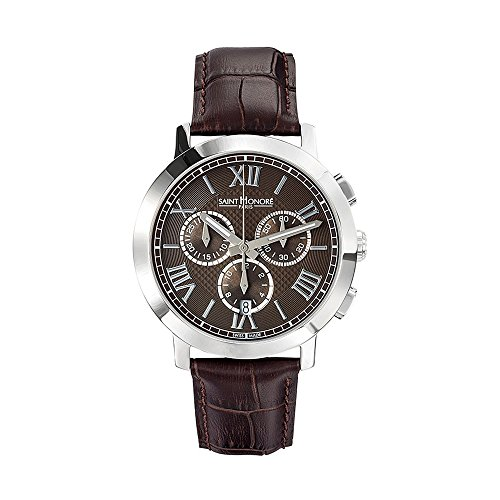 Men Watch Trocadéro Saint Honoré and Brown Leather Bracelet - STH - 886020 1GRFN - BLUE PEARLS