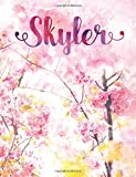 Skyler: Personalized Journal - A Pink Cherry Blossom Diary