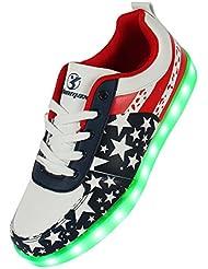 Angin-Tech LED Zapatos 7 Color de la Zapatilla con Luces de Deporte de Zapatos con la Carga del USB para el con el CE Certificado