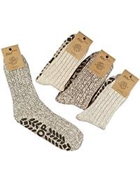 ORIGINAL WOWERAT 6 Paar superwarme ABS-Stopper-Norweger-Socken EIN ECHTER HAUSSCHUH-ERSATZ (43-46)