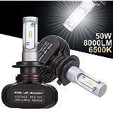 GreenClick 2*H7 Seoul-CSP LED phares Voiture Ampoules,Etanche IP65, 50W 8000LM ,Car Headlight LED Véhicule Blanc Pur 6500K Tout-en-un kit de conversion.(H7)