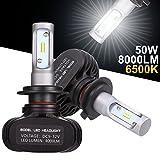 GreenClick 2*H7 Seoul-CSP LED phares Voiture Ampoules,Etanche IP65, 50W 8000LM,Car Headlight LED Véhicule Blanc Pur 6500K Tout-en-un kit de conversion.(H7)
