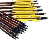 """VERY100 12er 32"""" Pfeilschäfte aus Bambus handmade Bogenpfeile mit 150"""