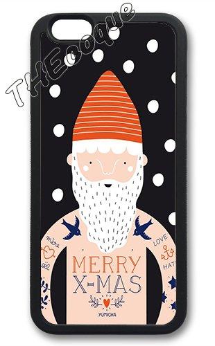 Coque silicone BUMPER souple IPHONE 5c - Joyeux noel pere noel merry Christmas motif 6 DESIGN case+ Film de protection OFFERT 6