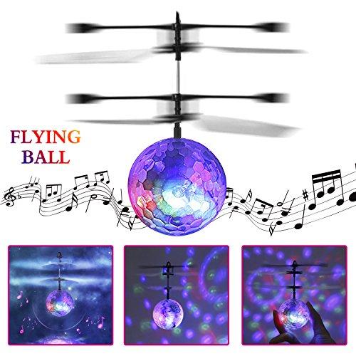 FPVRC Bola Voladora RC, Drone para Niños con Música y Luz LED, Helicópteros de Sensing Infrarrojo