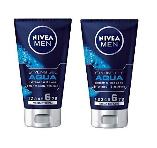 Nivea Men Aqua Styling Gel Mega 6 Strong 150 ml x 2 gel