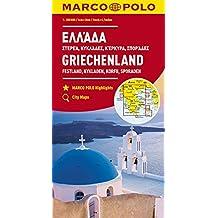 MARCO POLO Karte Griechenland, Festland, Kykladen, Korfu, Sporaden 1:300 000 (MARCO POLO Karten 1:300.000)
